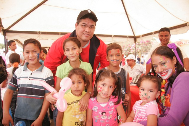 Muchos niños se hicieron presentes en este operativo